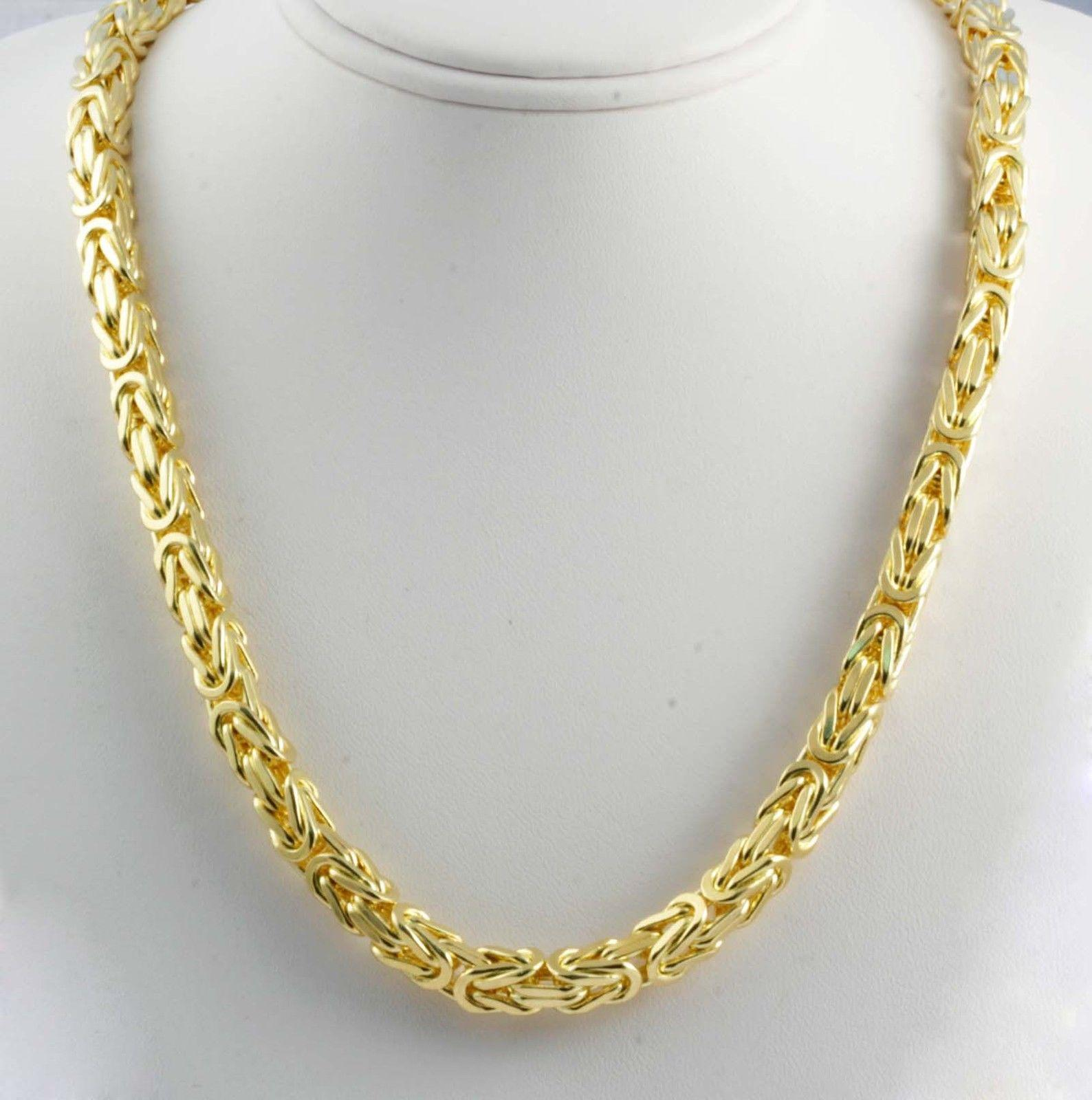 cuban chains necklace mens cut chain gold l yellow link diamond hollow