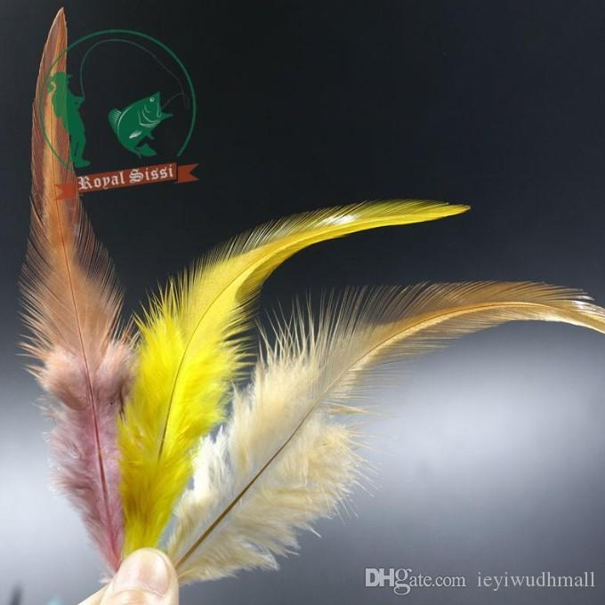 mix rooster neck hackle for streamer&dry flies making fly fishing lures/ hybrid colors sellar hackle feather