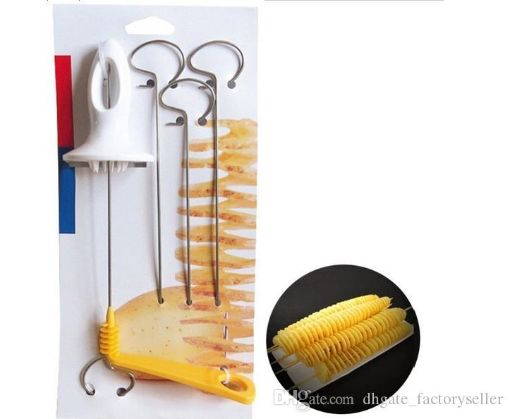 Tornado Potato Spiral Cutter Manual Slicer Spiral French Fry Cutter Potato Tower Making Twist Shredder Kitchen Supplies