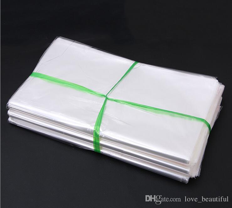 Grande saco auto-adesivo bolsa adesiva transparente Sacos de plástico roupas colcha com algodão estofado Algodão-acolchoado roupas 60x90cm 100 pçs / lote