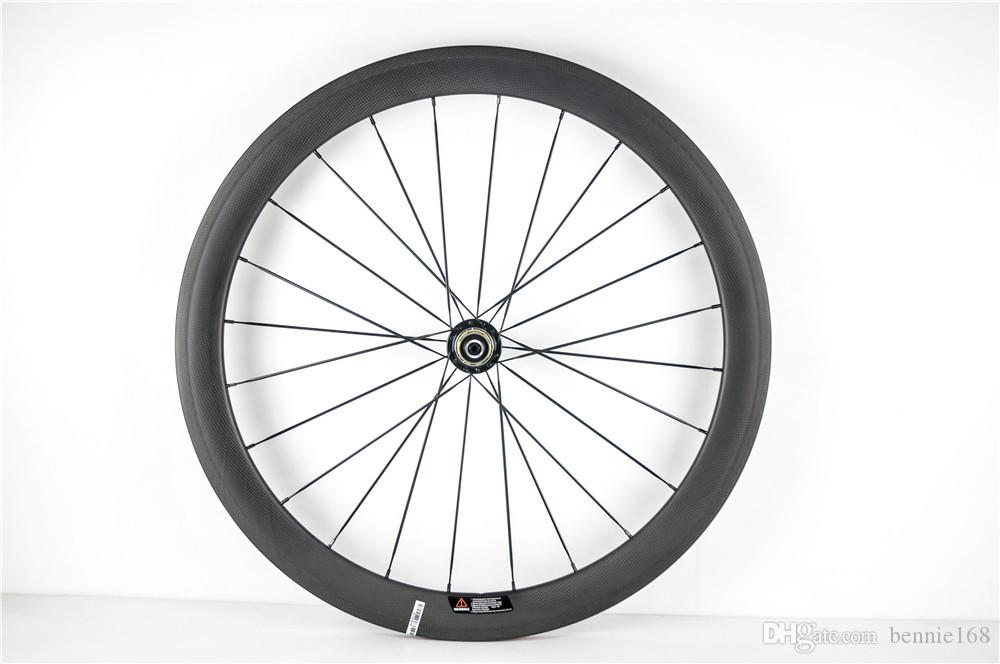 Powerway R36 Hubs 700C 50mm Profundidad 23mm Ancho Full Carbon Bicicleta Ruedas Wheelset UD Matte Clincher 20/24 Black Spokes