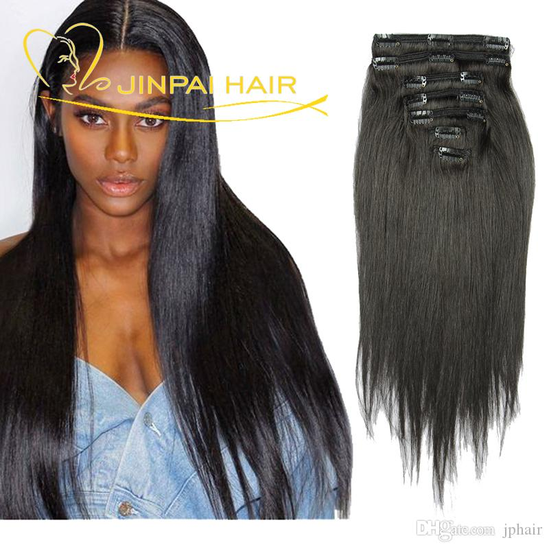 Jp Hair Brazilian Clip In Human Hair Extensions 14 Clips Peruvian