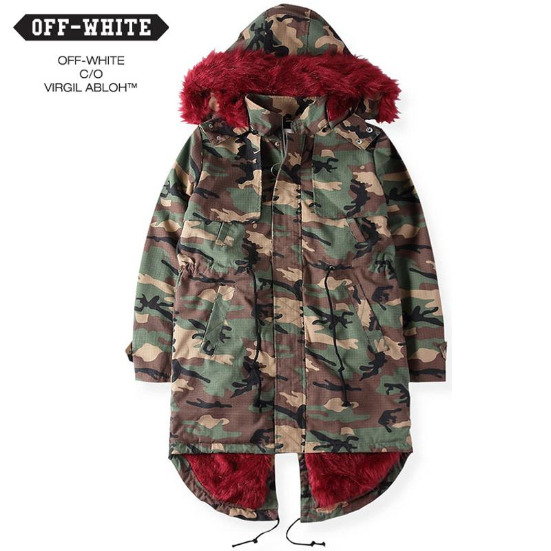 2018 Thick Wool Warm Winter High Quality Off White C/O Virgil ...