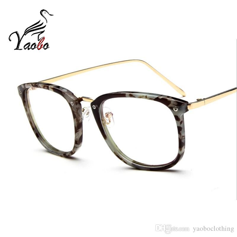 4049cd65e23 Yaobo Brand Glasses Men Women Vintage Computer Optical Eyeglasses ...
