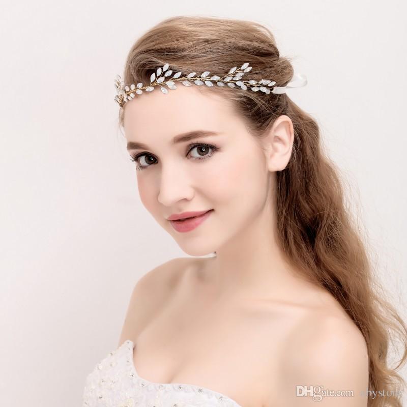 acheter charmant opale cristal cheveux vigne or mariage accessoires de cheveux nuptiale headband. Black Bedroom Furniture Sets. Home Design Ideas