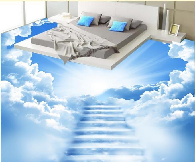 Custom 3d Floor Murals Clouds Of Clouds 3d Floor For