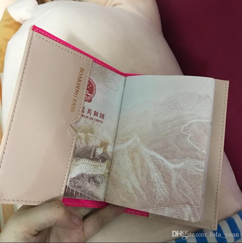 الأزياء الوردي الشريط جودة عالية حامل جواز سفر غطاء بطاقة الهوية حقيبة تخزين حقيبة واقية كم المرأة حقيبة VIP هدية 23 ألوان