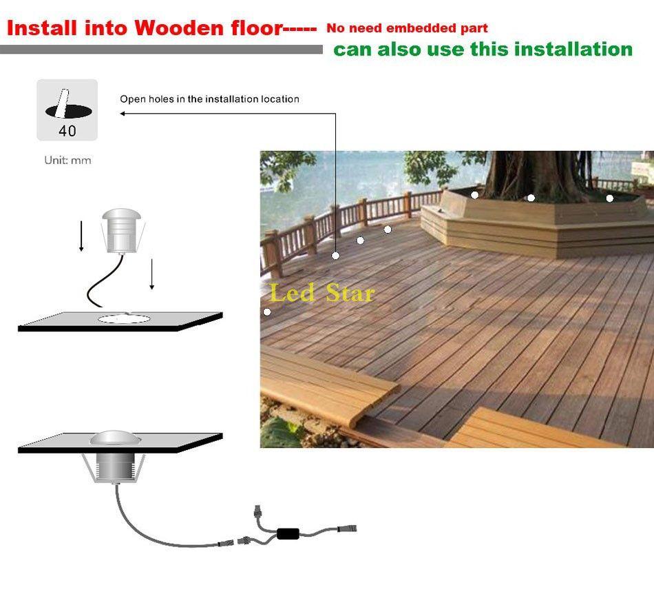Luz de cubierta LED de bajo voltaje 12V 24V IP67 3W Suelo laminado enterrado impermeable para lámpara subterránea Luces de tierra para jardín al aire libre LED