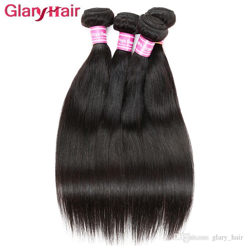 Unverarbeitete brasilianische gerade Remy Jungfrau-Haar-Webart-Verkauf preiswerte Haar-Verlängerungs-Webart-Bündel freie Verschiffen-Haar-Produkte für Mädchen
