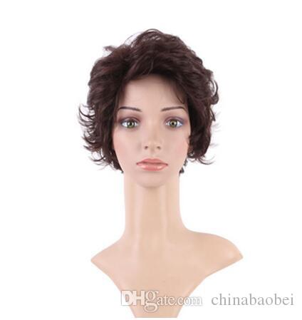 12 inch Women Short Curly Synthetic Full Head Hair Wig For Women Wigs Heat  Resistant Hair d45fc0185b