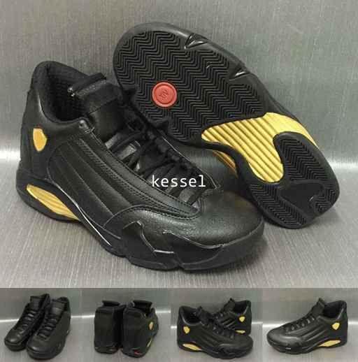 9de9a47b964d 2017 Fashion 14 DMP Basketball Shoes For Men Black Gold 98 Deigning ...