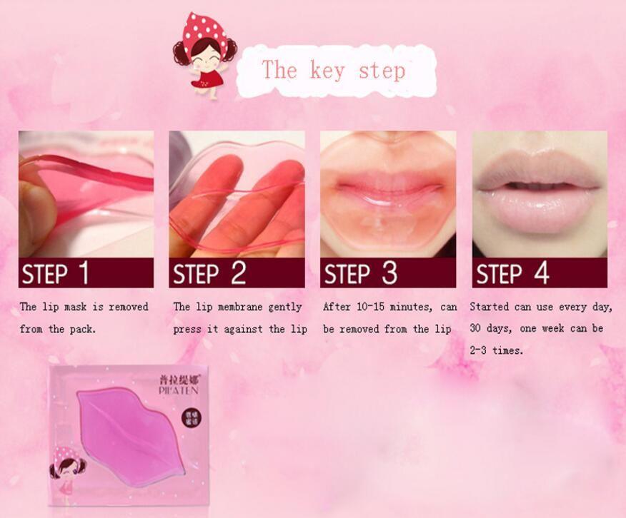 PILATEN Crystal Collagen Lip Mask Pads Lip Plumper Moisture Essence Anti Ageing Wrinkle Patch Pad Gel Lips Lip Enhancer