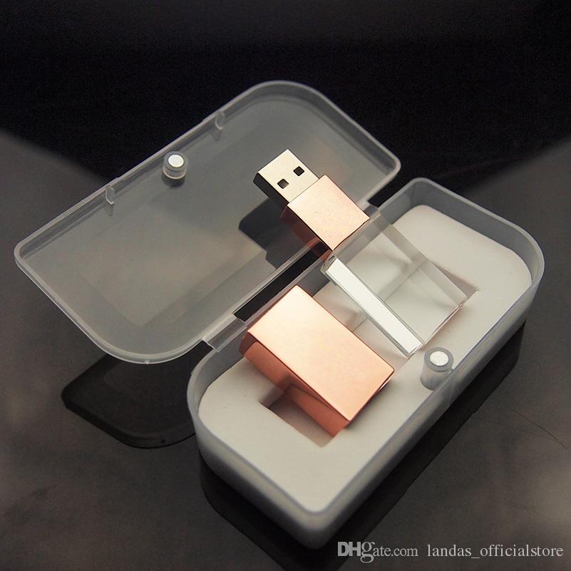 Art und Weise USB-Kristallstift-Antrieb 4GB 8GB 16GB 32GB USB-Blitz-Laufwerk U Disk USB 2.0 Gedächtnisstock pendrives für Hochzeitsgeschenk der Frauen