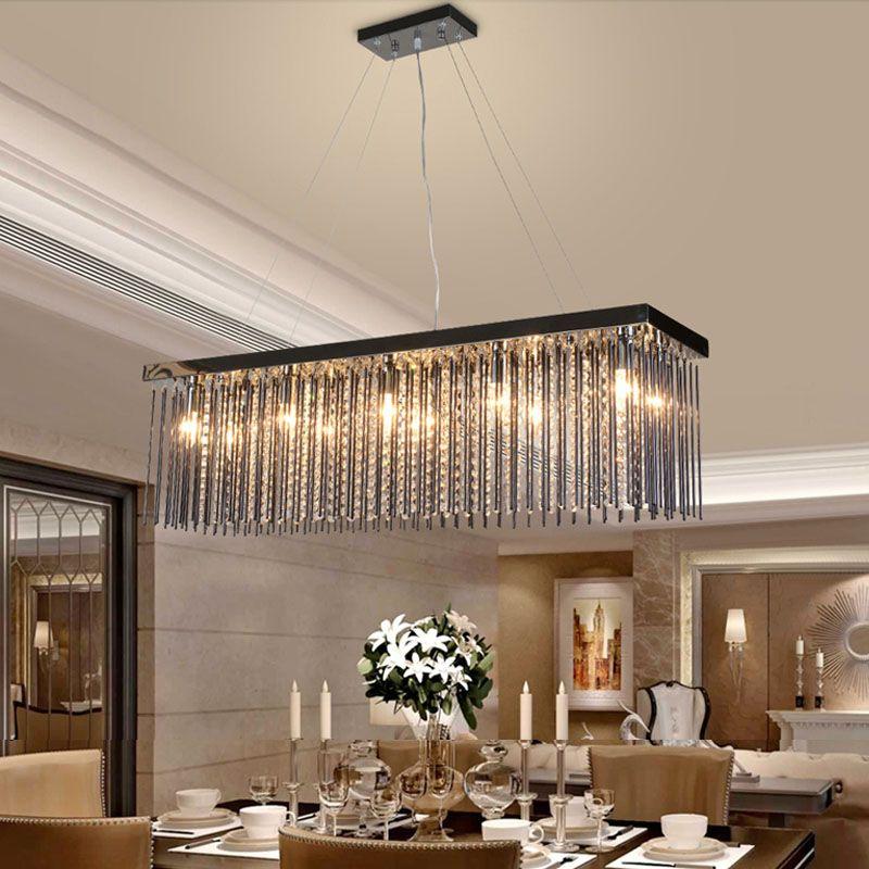 Schlafzimmer Pendelleuchte | Grosshandel Kristall Lampe Rechteckige Esszimmer Pendelleuchten Hotel