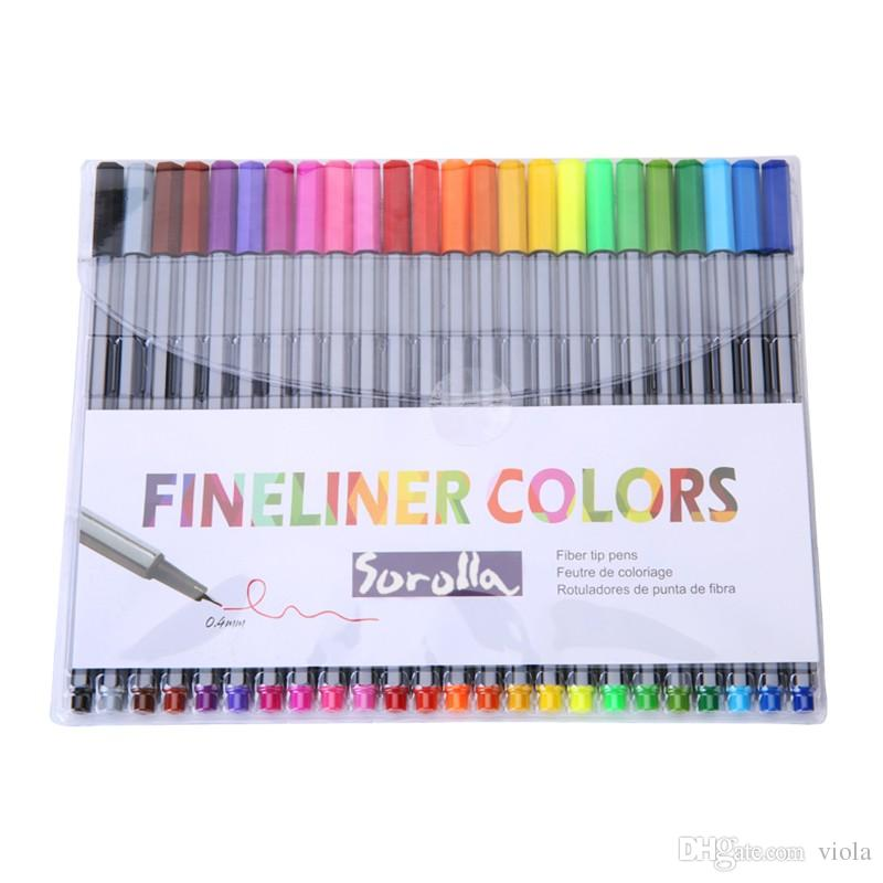 Prettybaby 24 Colors Fineliner Pens Art Sketch