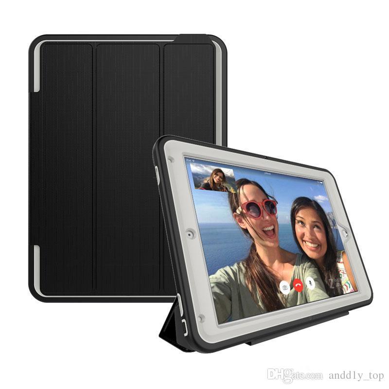Armatura antiurto resistente agli urti Custodia rigida posteriore in silicone Custodia rigida in silicone iPad 2 3 4 6 7 Pro 9.7 Mini Mini4