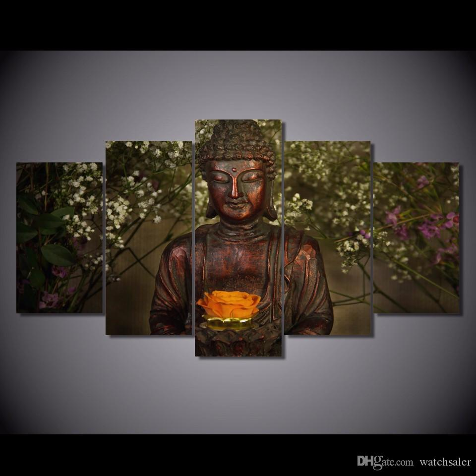 Best hd printed buddha lotus flower picture wall art canvas print best hd printed buddha lotus flower picture wall art canvas print room decor poster canvas painting under 3698 dhgate izmirmasajfo