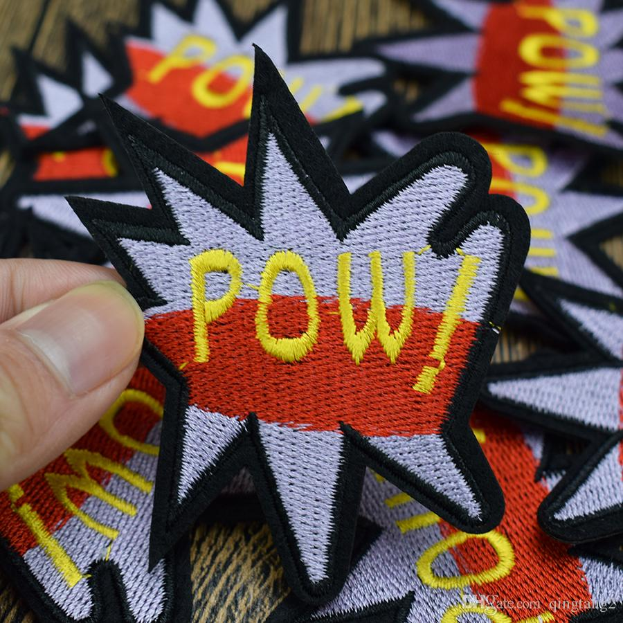 POW embroidery patches for clothing iron fashion patch for clothes applique sewing accessories stickers badge on cloth iron on patches