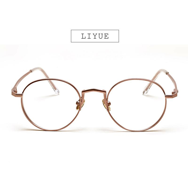 21bc03bb61 Wholesale- LIYUE Fashion Women Eyeglasses Retro Vintage Round Metal Frame  Clear Glasses High Quality Spectacles Prescription Eyewear Men Prescription  ...