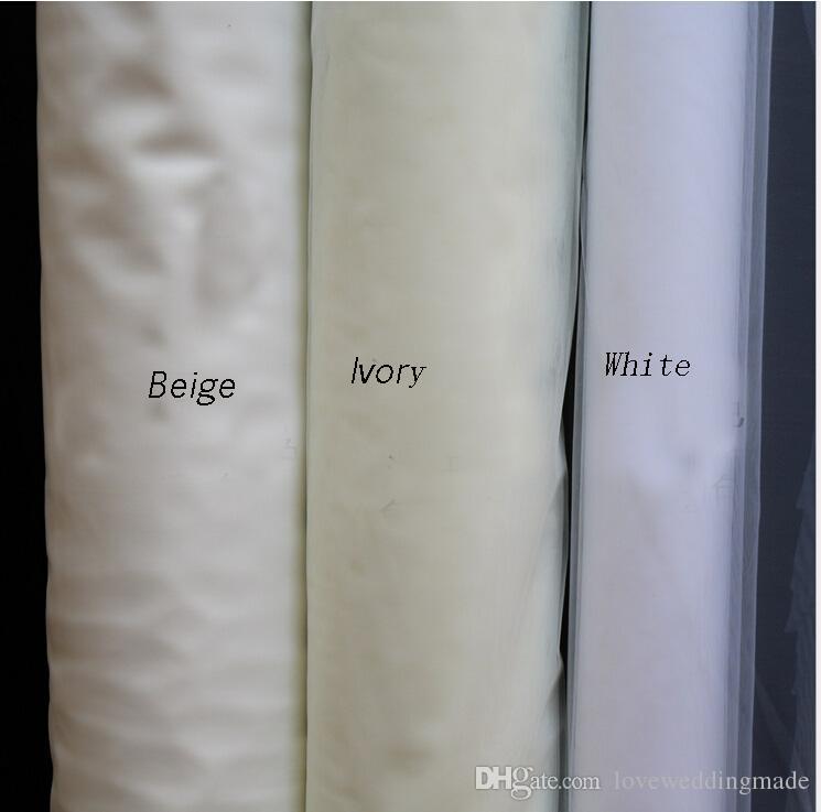 Pas cher 2017 Blanc / Ivoire / Beige / Champagne / Voiles De Mariée Rouges, 1.5 * 3M Long Une Couches Avec Peigne Simple Doux Voile De Mariage De Tulle