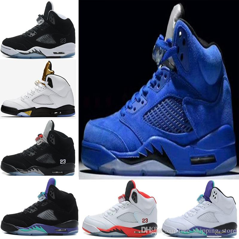 2018 2017 high quality men air retro 5 basketball shoes 5s oreo 2018 2017 high quality men air retro 5 basketball shoes 5s oreo olympic space jam 5s blue red suede black grape black sneakers 8 13 from freeshippingstore sciox Images