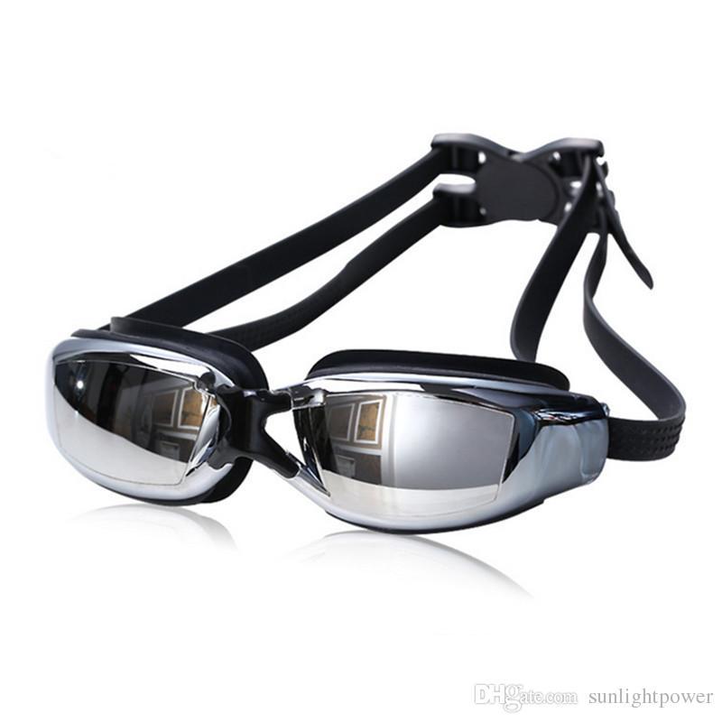 Compre New Hot Adulto Profissional Miopia Óculos De Natação Com Caixa De  Homens Mulheres Nadar Óculos Anti Nevoeiro Uv Óculos De Natação Piscina De  Água De ... 390eaef7e3