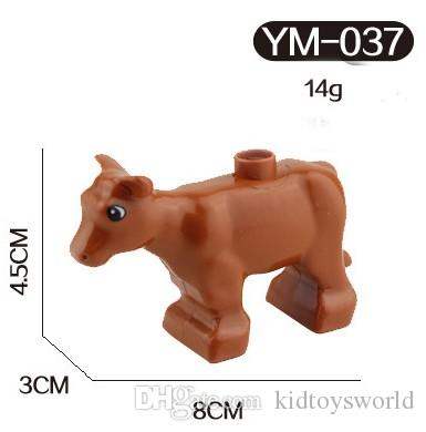 animals Series cock/horse/cattle/dog/pig/cat Large Particle Building Blocks Kids Toys gift Compatible with Legoe Duplo