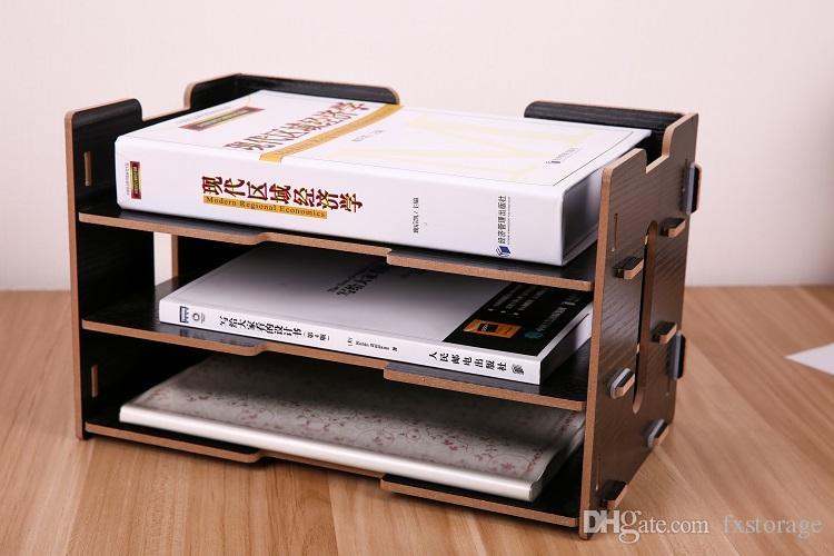 Organizer Ufficio Fai Da Te : Acquista fai da te multi storey eco friendly shelf box in legno