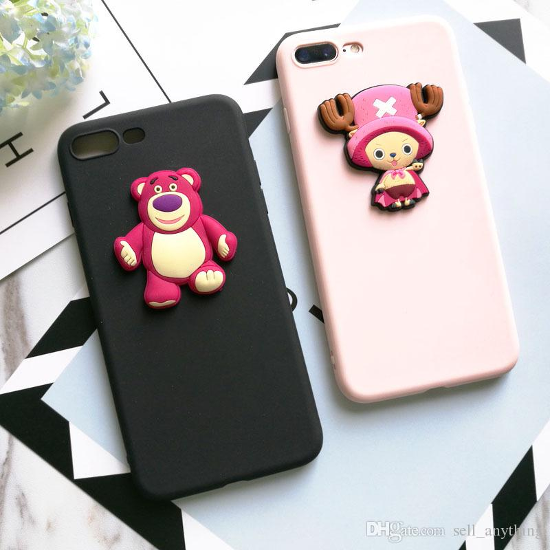 best loved 30663 7fbaf For Iphone 7 Phone Cases Three Dimensional Cartoon Diy Soft Shell Cell  Phone Silicone Case For Iphone 7 6 6s Plus