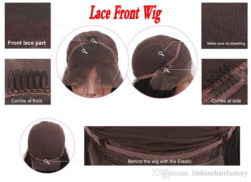 Body Wave Full Lace Human Hair Wigs for Women Indian Hair Lace Front Wigs with Baby Hair FDshine
