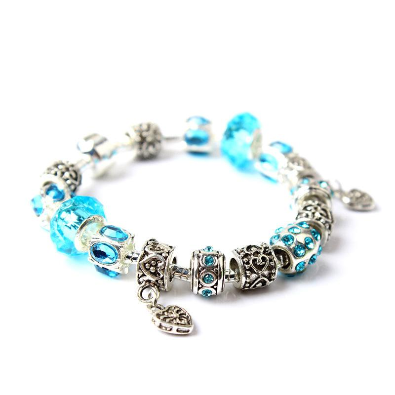 big hole crystal bracelet women charm bracelet 2018 hotsell fashion bracelet whosale