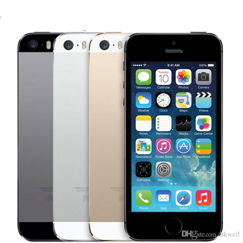Refurbished Original Apple Iphone 5S Cellphone 4.0Inch Screen Dual Core 16G 32G 64G ROM 8.0MP Camera