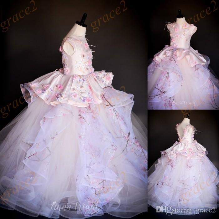Spring Dream Flower Girls Dresses 2017 With Ruffles Skirts And ...