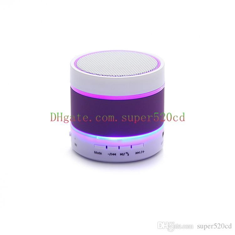 Newest Prodduct LED Speaker S09 Enhanced Speaker 3 LED Light Ring Super Bass Metal Mini Portable Beat Hi-Fi Bluetooth Hand freight free