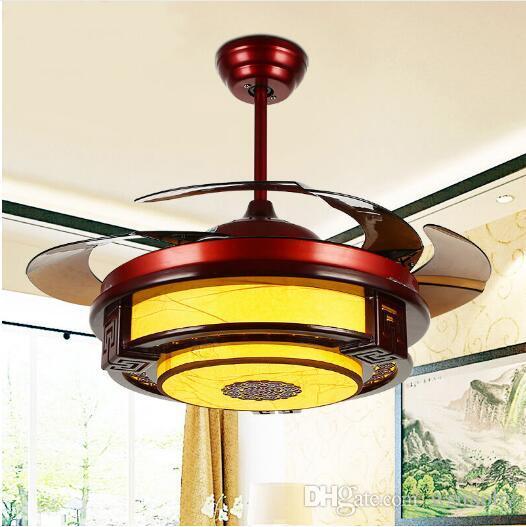 Wundervoll Großhandel Deckenventilatoren Lampe Led 42 108cm Inch  Frequenzumwandlungsmotor Holz Traditioneller Deckenventilator Lichtdimmer  Fernbedienung 85 265v Von ...