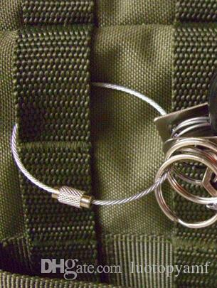 Portachiavi del cavo di Keychain del cavo dell'acciaio inossidabile di alta qualità l'escursione all'aperto trasporto libero