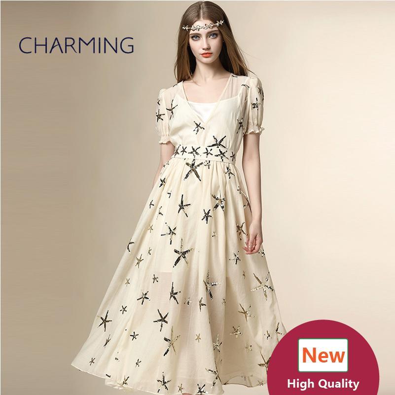 Großhandel Abschlussballkleider Langes Gesticktes Kleid Reales Foto ...