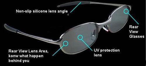 Occhiali da sole anti-traccia Occhiali da sole UV Protezione Occhiali da sole anti UV Occhiali da sole da pilota Occhiali da vista retrovisori Occhiali con scatola di protezione
