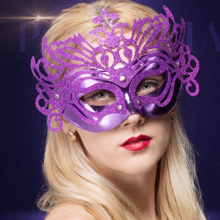 Venetian Masquerade Frauen Maske Laser-Cut-halbe Gesichts-Frauen Masken Halloween-Ball-Party Multi Farben Gold / Silber / Rot