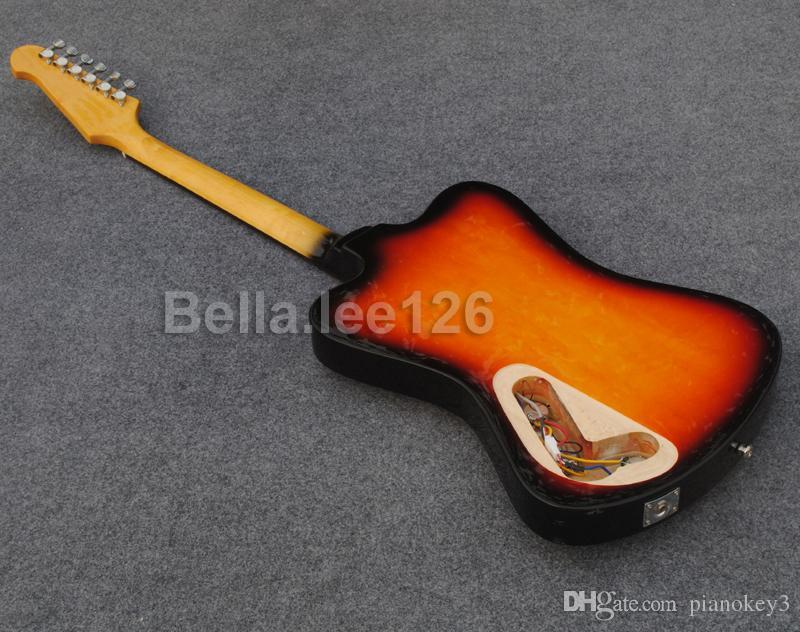 Özel Thunder kuş gitar, sunburst renk, hediye olarak ücretsiz kargo, çin'de yapılan gitar