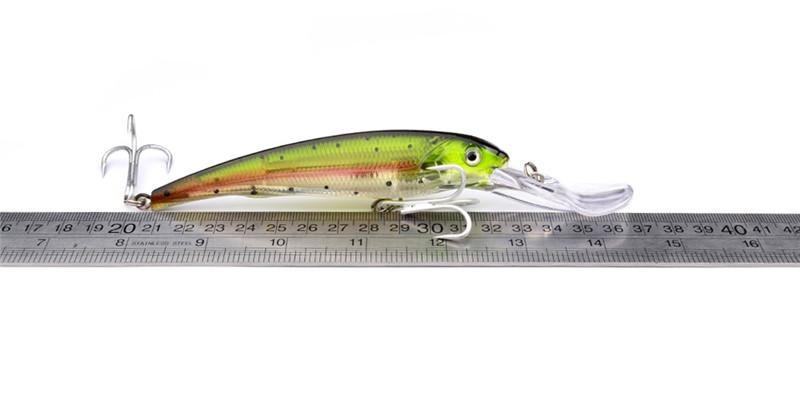 Brand Saltwater Big Fishing Lure ABS Plastic Minnow Crank baits 17cm 31g Deep Diving fly fishing bait With Plastic box