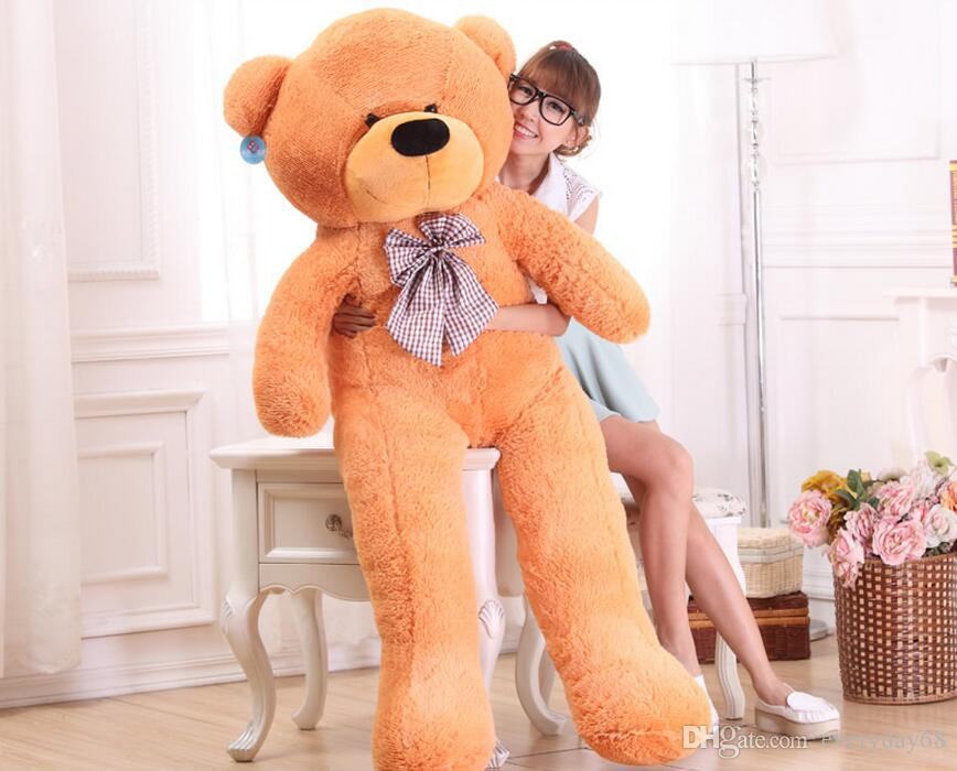 Hot New TEDDY BEAR Bonecas de pelúcia Gigante Jumbo Big Teddy Bear Presente de Aniversário Presentes de Natal Medidas de ângulo reto animal Bonecas de pelúcia