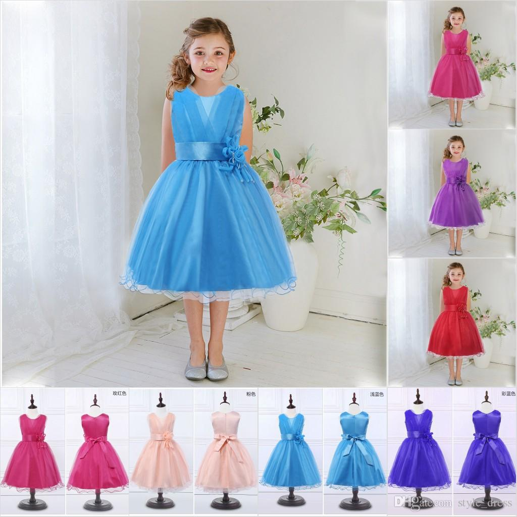 Baby Flower Girl Dress Kids Party Wear Children\'s Clothing Girl ...