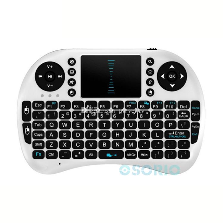 Wireless Mini Keyboard Rii i8 Fly Mouse Multi-Media Player Remote Control with Touchpad for Android Smart Box MXIII M8 MXQ MX3 Mini PC