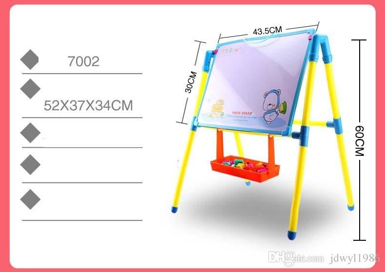O quadro-negro magnético plástico do lado duplo da criança Whiteboard / caçoa a escrita grande e os brinquedos da placa de desenho com eliminador / giz / marcador