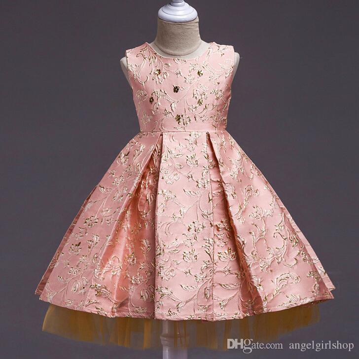 Compre Baby Girl Princess Dress 4 11 Anos Crianças Flor Menina Sem Mangas  Outono Inverno Vestidos Para Criança Menina Crianças Moda Festa Roupas De  ... 965552db86