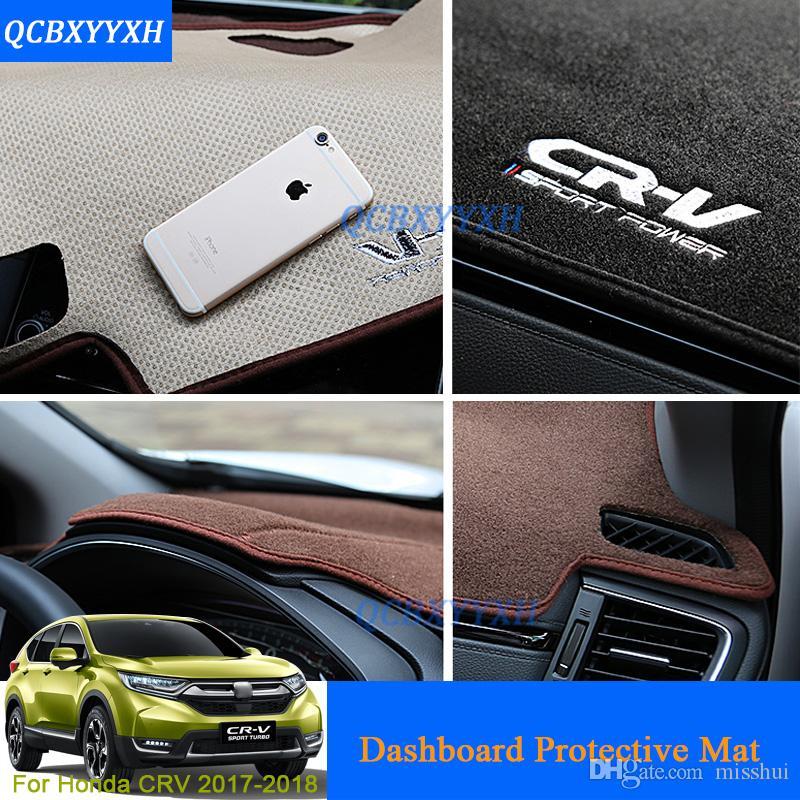 Auto Styling Dashboard Schutzmatte Schatten Kissen Foto Polyester Pad Innen Teppich Für Honda CRV 2017 2018 Auto Zubehör