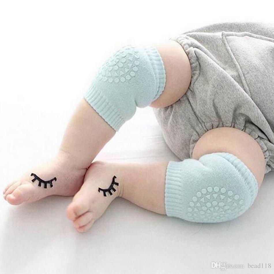Горячо ! 10 пар детские ползающие наколенники супер дышащие регулируемые наколенники наколенники налокотники подлокотники безопасности протектор для 9-24 месяцев