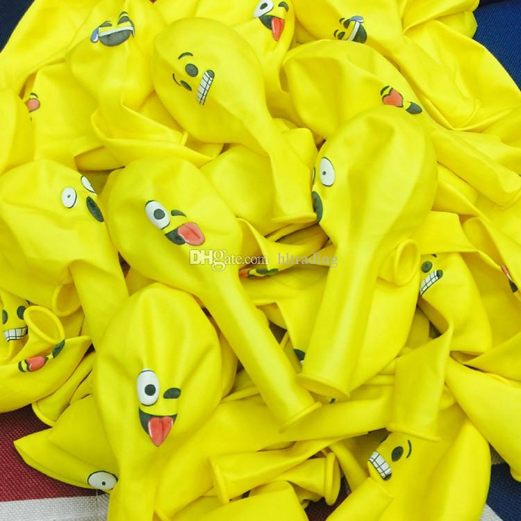 Christmas 12 inches Party Adornment Balloon Emoji Latex balloons Halloween Children Gifts Emoji Party Supplies C2505