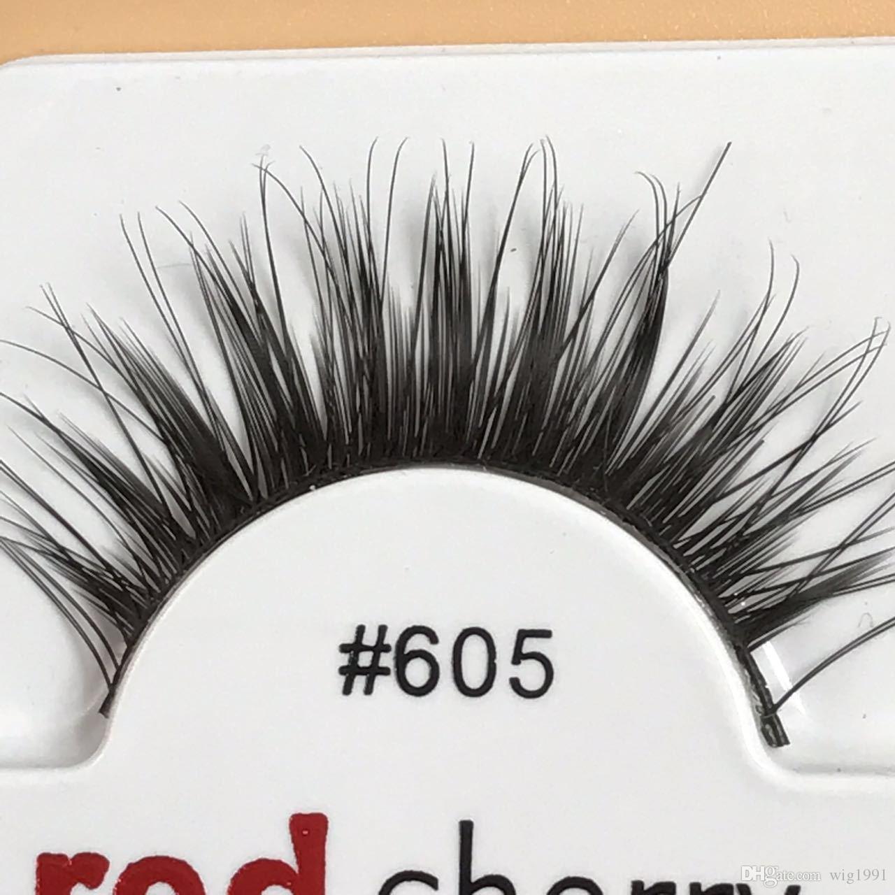 Natural Long Tapered False Eyelashes Soft Red Cherry Eyelashes Human Hair Eye Lashes Makeup Beauty Tools Soft Eyelash Extension